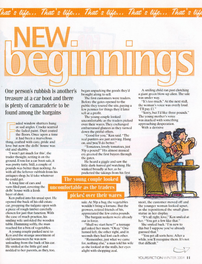 New Beginnings courtesy of Yours Magazine Fiction Special
