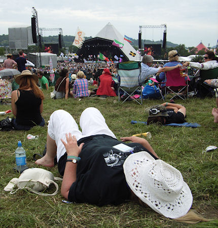 This is the sort of photo I usually have - me at Glastonbury Festival.