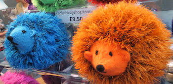 I never knew hedgehogs came in orange and blue