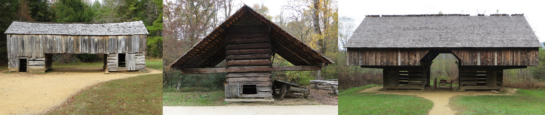 The settlers in Appalachia seemed to have some issue with building walls that came all the way to the ground.