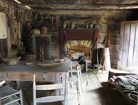 The cabins still look much as they did when teh last inhabitants moved to better homes.
