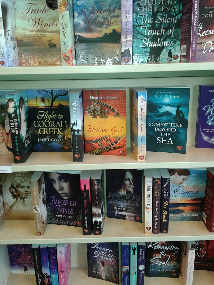 I was delighted to find a display of Choc Lit titles - including my new release. Indy bookshops rock!