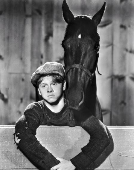 In my head, Mickey Rooney will always be young and wearing a cloth cap.