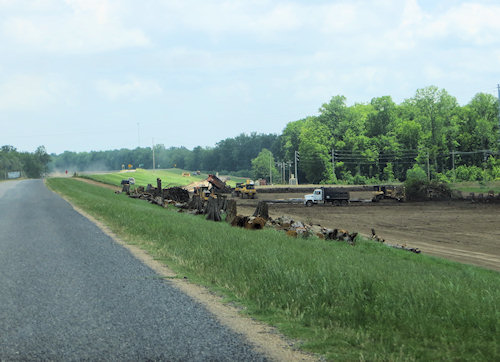 Maintaining the levees must be an overwhelming task. Here the military is doing the hard wok.
