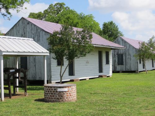 The sharecropper homes were often  former slave cabins - and many were used well into the mid 1900's.