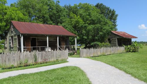 There were once more than 70 slave cabins - now only four remain.