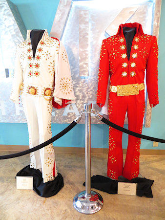 You can buy replica costumes for $2,000. I guess they must get a few Elvis impersonators through the door.