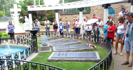 It's quite a personal tour - and ends at the place where Elvis and his parents are buried.