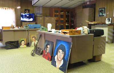 Millions of fan letters and gifts passed through this modest office at the read of the house.