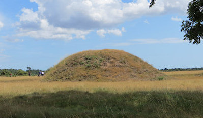 One of the largest of the Sutton Hoo burial mounds. It looks so plain - no hint of what lay beneath.
