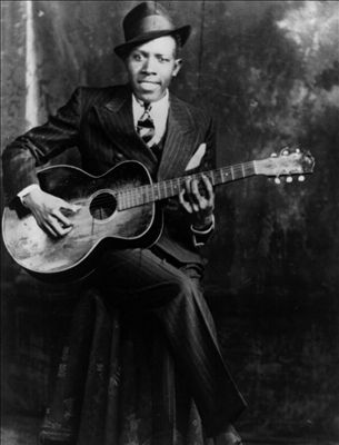 One of only three photos known of Robert Johnson - he was a bit of a charmer!