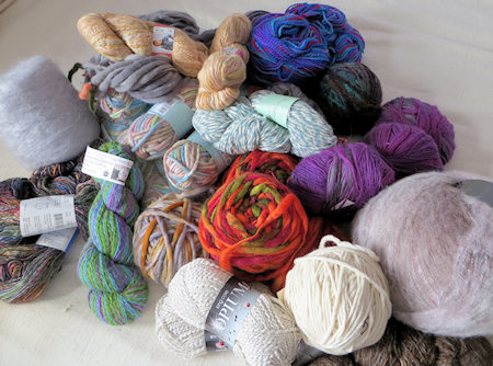 A (small) part of my yarn stash. Some of this will get knitted up this winter.