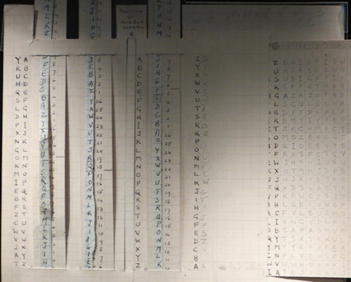 Before Alan Turing's breakthroughs, the code was cracked by sliding bits of paper through slots in pages covered with letters.