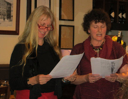Jean is stepping down as organiser - and her co-conspirator Juliet with incoming organiser Linda Chamberlain read a short one act play in her honour...