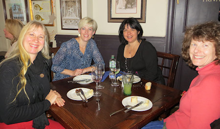 Thre were smiles all round - but not just because of the food. It's so great to have time to chat with good friends.