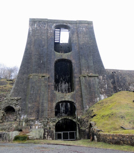 The iconic balance tower at Blaenavon - when it was built, the owner was chided for wasting money on attractive design rather than pure functionality.