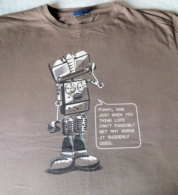 A play rather than a concert - Marvin the Paranoid Android from  the stage version of Hitchhikers guide - featuring the fab Neil Gaiman