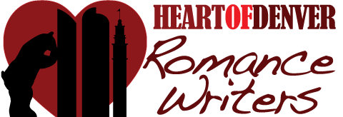 The Heart of Denver Romance Writers logo - can you see the bear?