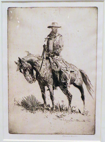 No surprises that this is one of my favourite horse-related icons - the Cowboy. He pops up in the books I write too.