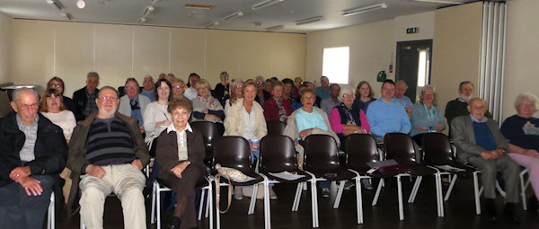 Why does nobody sit in the front row? Are you afraid I bite? The lovely group at Harrow U3A.
