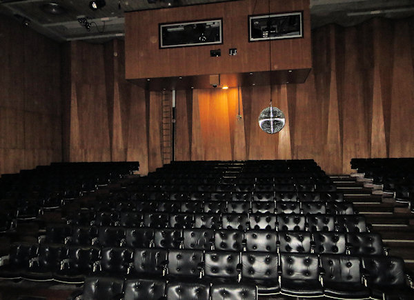 I attended many concert here - and never realised there was a mirror ball hidden in the ceiling. They weren't that kind of concert.