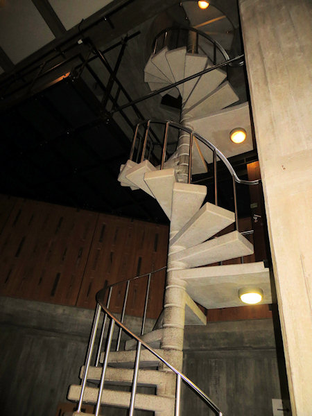 Not good stairs for those with a vertigo problem. Were health and safety rules different in the 50s?