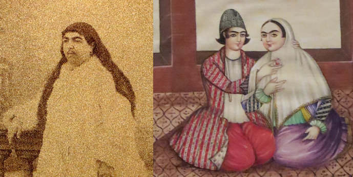 There are paintings and a few very rare photographs of the Qajar women - showing a very different idea of beauty