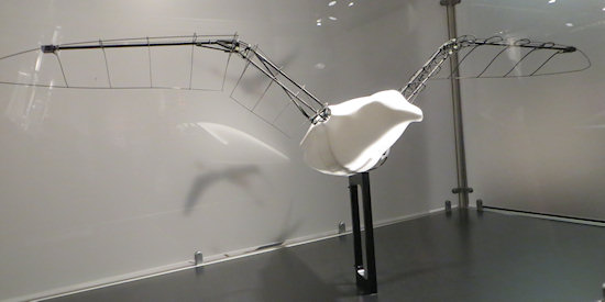 The model of the smart bird in the museum.