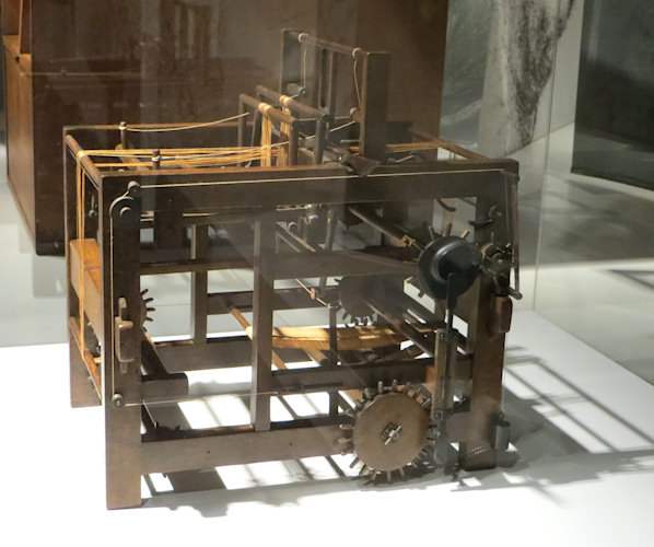 Leonardo's weaving machine - long before the industrial revolution changed the world.