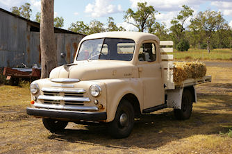 A Dodge ute at the Jondaryan Woolshed, QLD