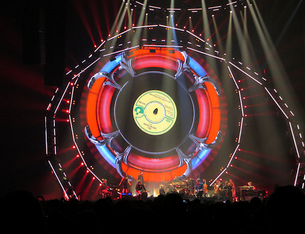 A spectacular light show at the O2 Arena.