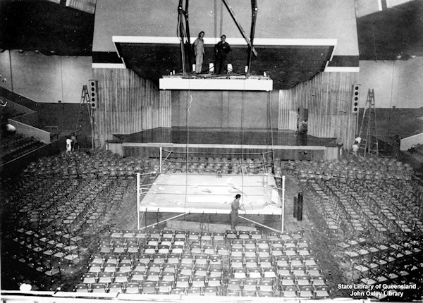 Brisbane's old Festival Hall set for boxing or music. At the time, I thought it was such a big venue
