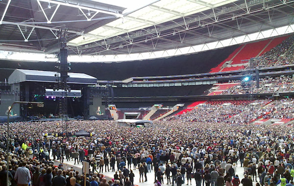 Bruce Springsteen plays Wembly. Without the big screens, how would most of us see the Boss?