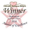 Colorado Romance Writers 2016 Award of Excellence cover winner - Mainstream - for The Wild One