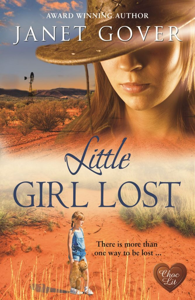The lovely cover beautifully portrays the Australian outback