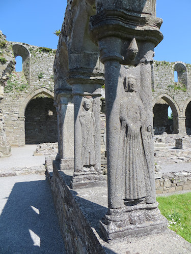 The carvings in the cloister were remarkably well preserved.