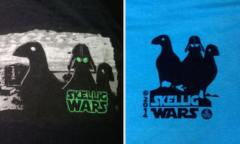 The tourist shops nowe boast T-shirts with puffin in stormtrooper helmets or armed with light sabres.