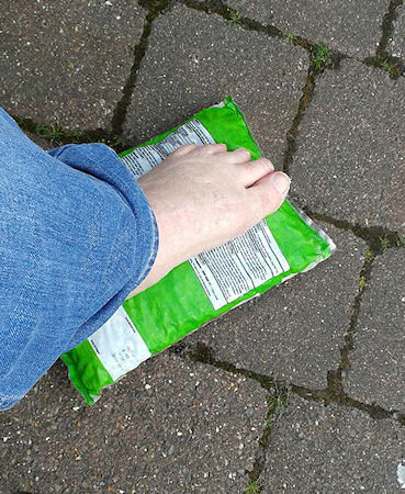 I hurt my foot the night before conference and spent much of the weekend resting it on a packet of frozen peas. Thanks everyone who helped me as I limped about.