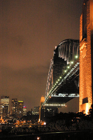 The Sydney Harbour Bridge at night - you never forget something this beautiful