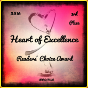 Ancient Cities Romance Authors 2016 Heart of Excellence 3rd Place awarded to The Wild One