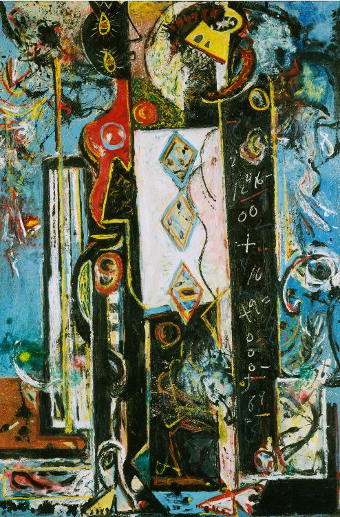 This is an older work by Pollock - from the RA exhibition.